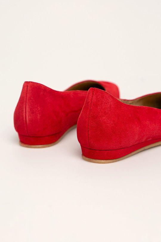 červená Tamaris - Kožené balerínky