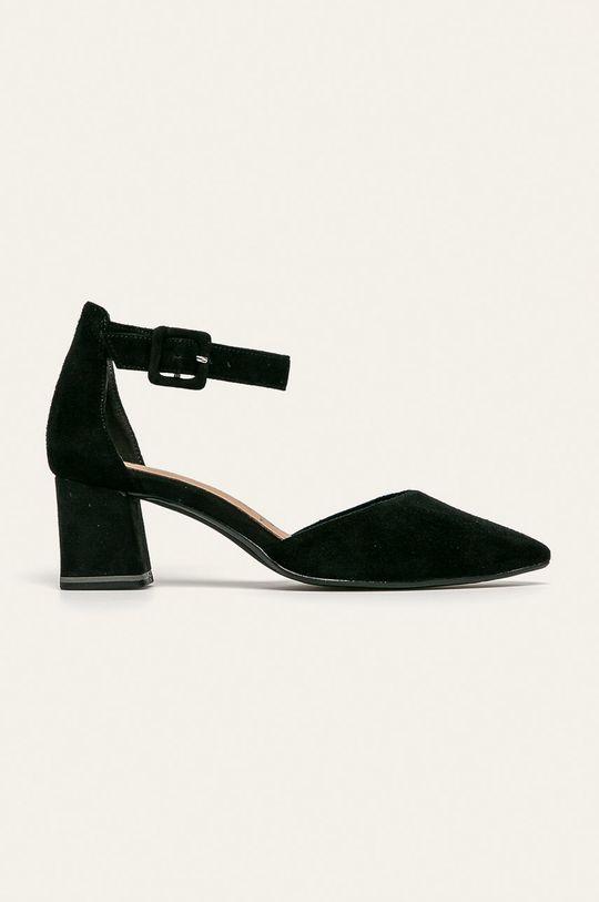 čierna Tamaris - Kožené sandále Dámsky