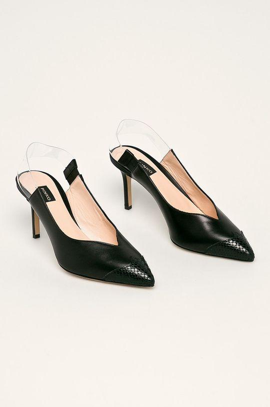 Pinko - Stilettos de piele negru