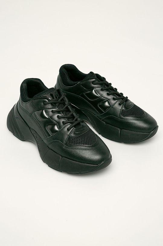 Pinko - Kožené boty černá