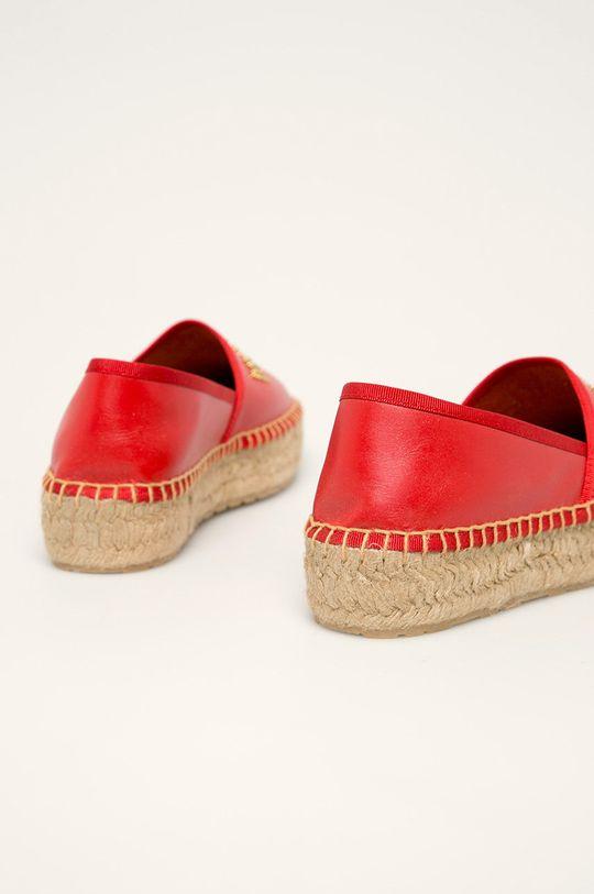 Love Moschino - Espadrile de piele Gamba: Piele naturala Interiorul: Material textil, Piele naturala Talpa: Material sintetic