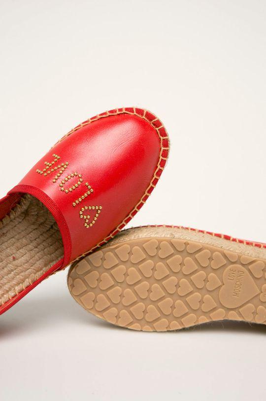rosu Love Moschino - Espadrile de piele