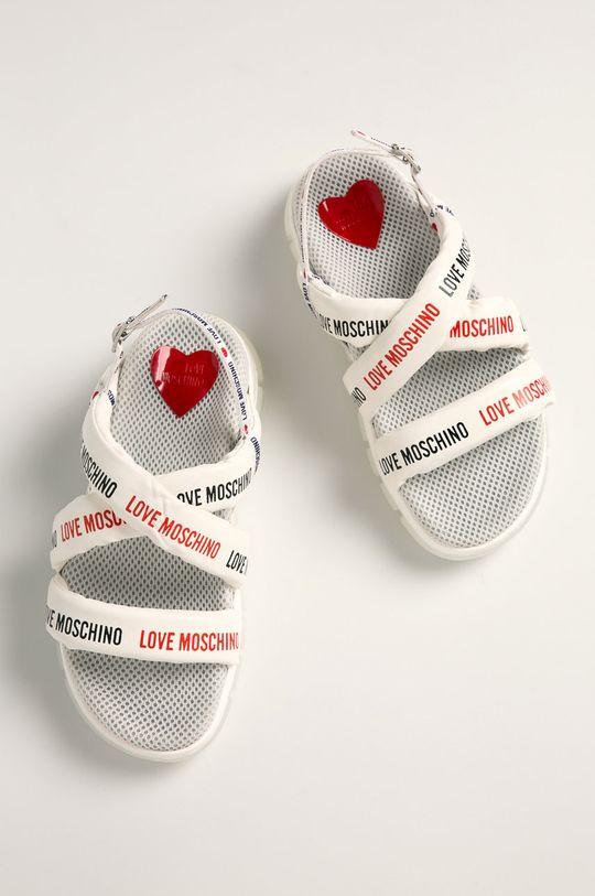 Love Moschino - Sandały biały