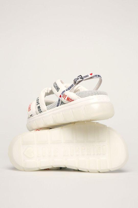 biały Love Moschino - Sandały