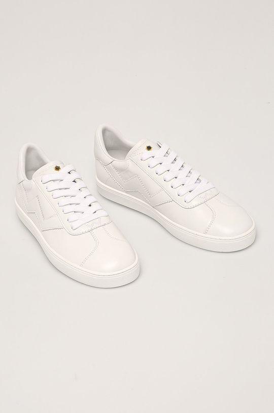 Stuart Weitzman - Kožené boty Daryl bílá