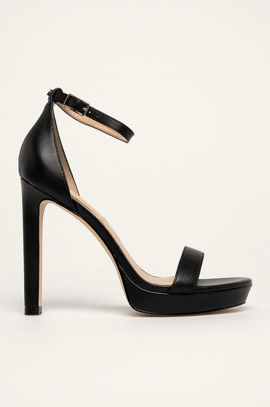 čierna Guess Jeans - Kožené sandále Dámsky