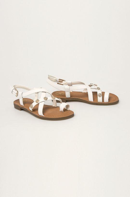 biały Guess Jeans - Sandały skórzane Damski