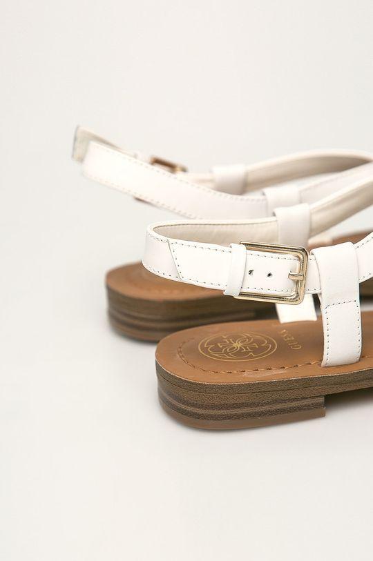 Guess Jeans - Sandały skórzane biały