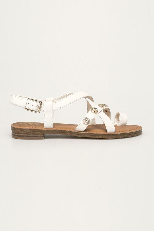 Guess Jeans - Sandały skórzane Cholewka: Skóra naturalna, Wnętrze: Materiał syntetyczny, Podeszwa: Materiał syntetyczny