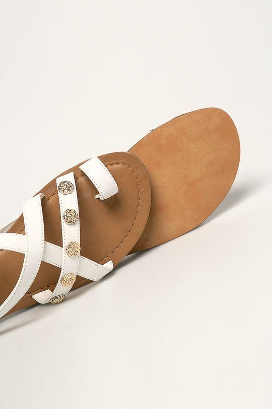 biały Guess Jeans - Sandały skórzane