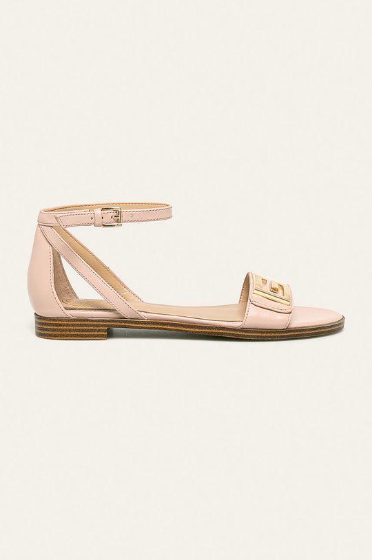 růžová Guess Jeans - Kožené sandály Dámský
