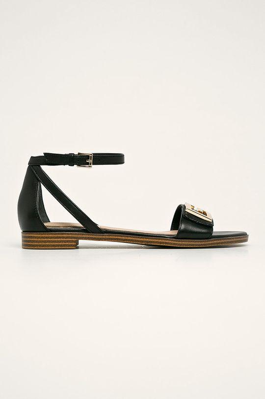 černá Guess Jeans - Kožené sandály Dámský