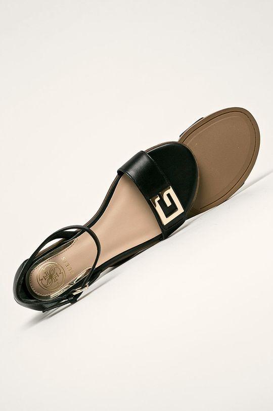 černá Guess Jeans - Kožené sandály