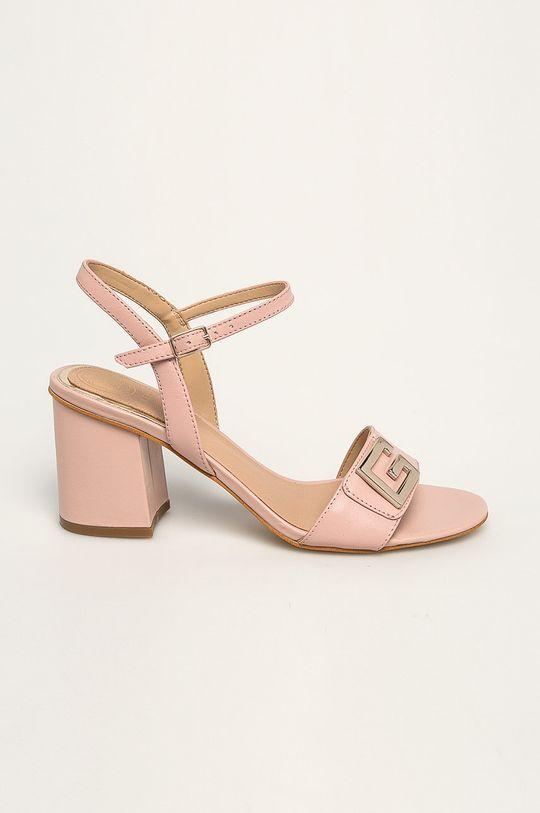 roz Guess Jeans - Sandale de piele De femei