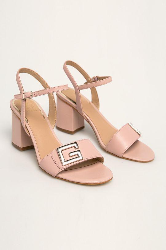 Guess Jeans - Sandale de piele roz
