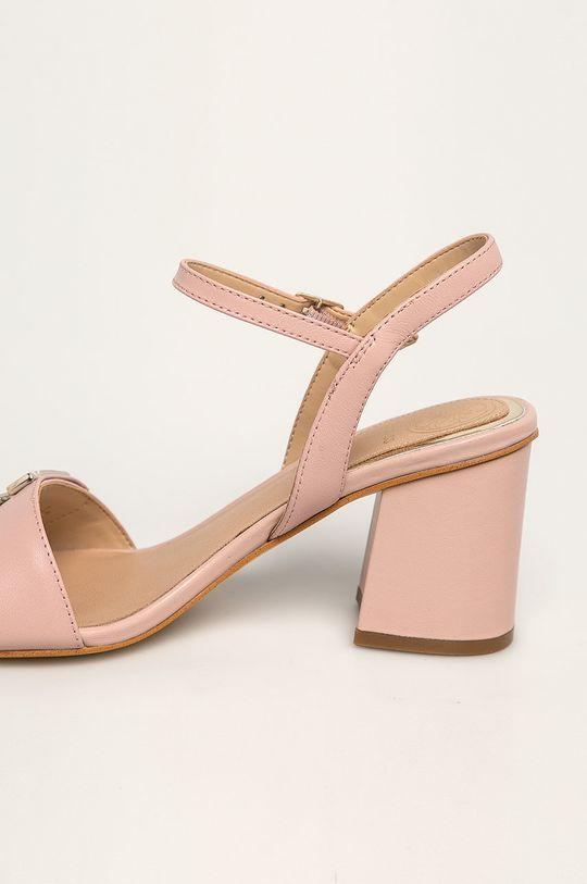 Guess Jeans - Sandale de piele Gamba: Piele naturală Interiorul: Material sintetic, Piele naturală Talpa: Material sintetic