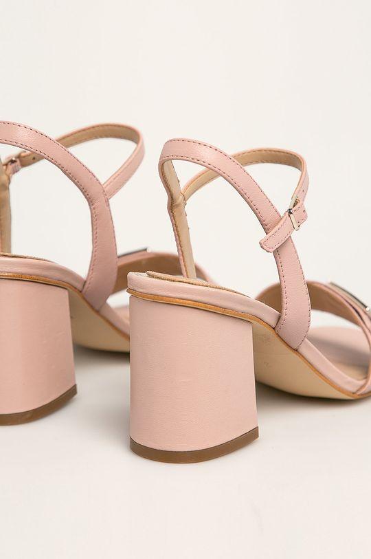 roz Guess Jeans - Sandale de piele