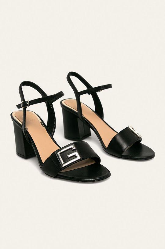 Guess Jeans - Sandale de piele negru