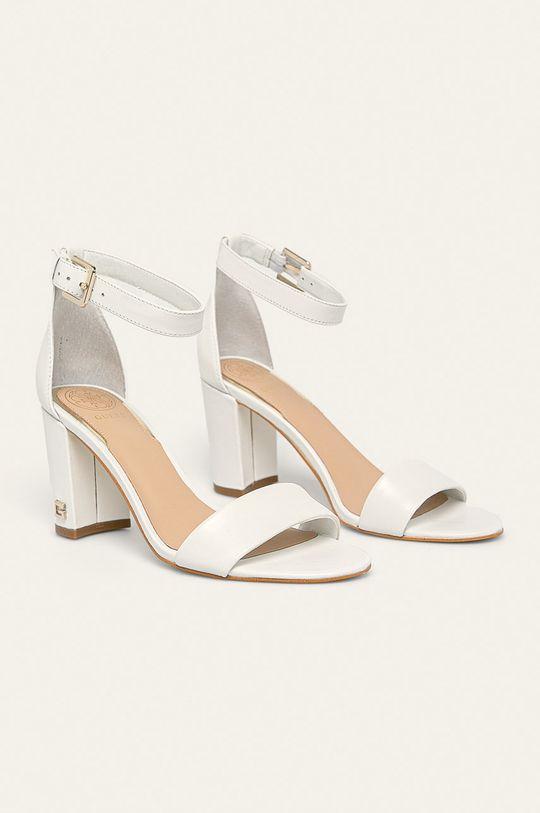 Guess Jeans - Sandale de piele alb