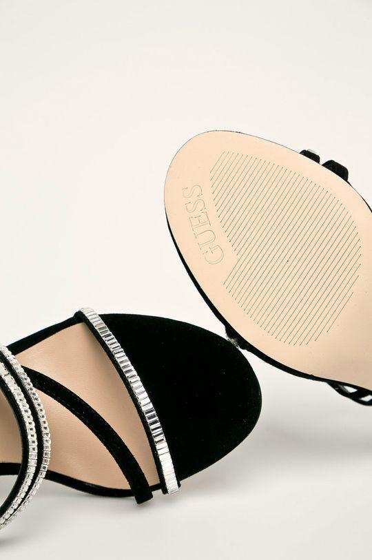 čierna Guess Jeans - Kožené sandále