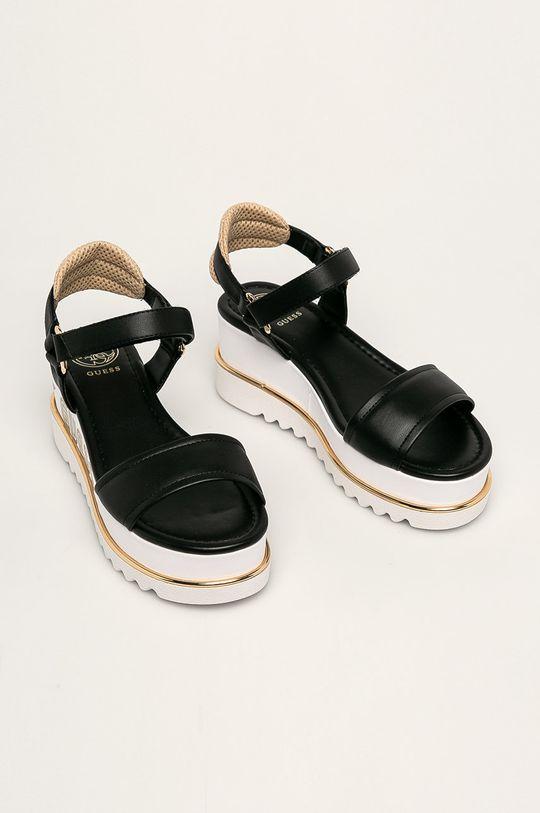 Guess Jeans - Sandały czarny