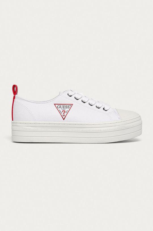 biały Guess Jeans - Tenisówki Damski