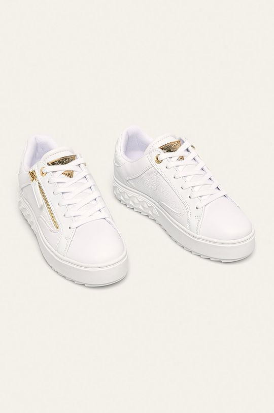 Guess Jeans - Topánky biela