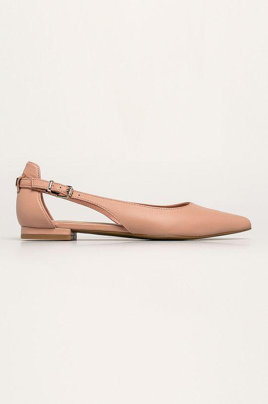pastelově růžová Tommy Hilfiger - Kožené baleríny Dámský