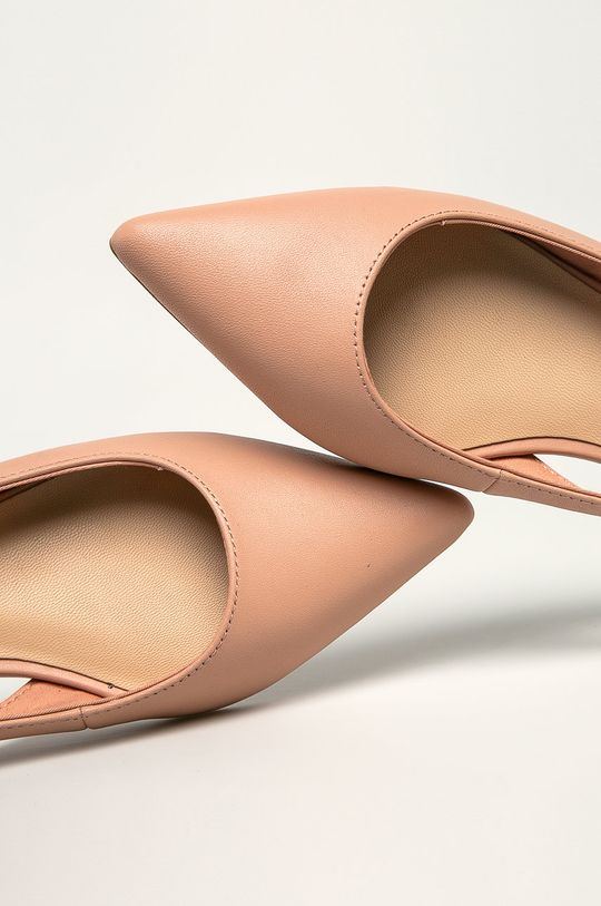 pastelově růžová Tommy Hilfiger - Kožené baleríny