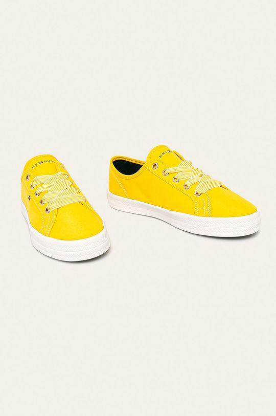 Tommy Hilfiger - Boty jasně žlutá
