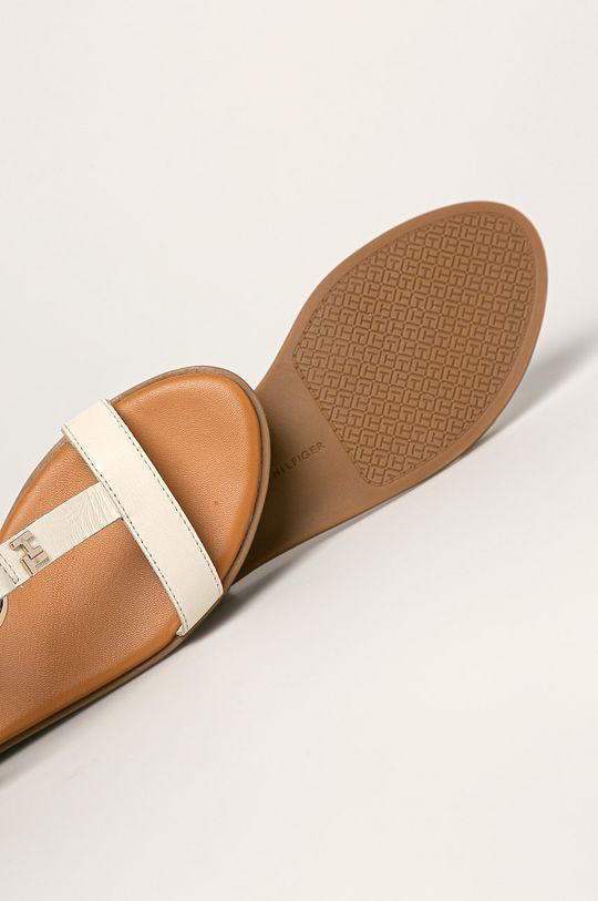 kremowy Tommy Hilfiger - Sandały skórzane
