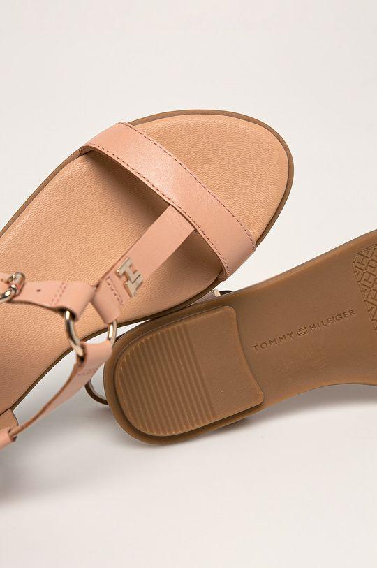 piesková Tommy Hilfiger - Kožené sandále