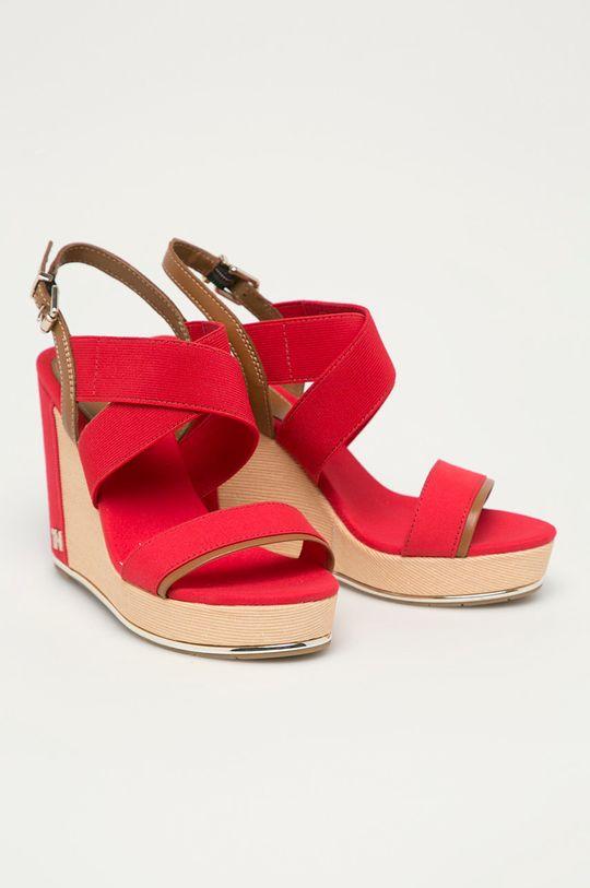 Tommy Hilfiger - Sandały czerwony
