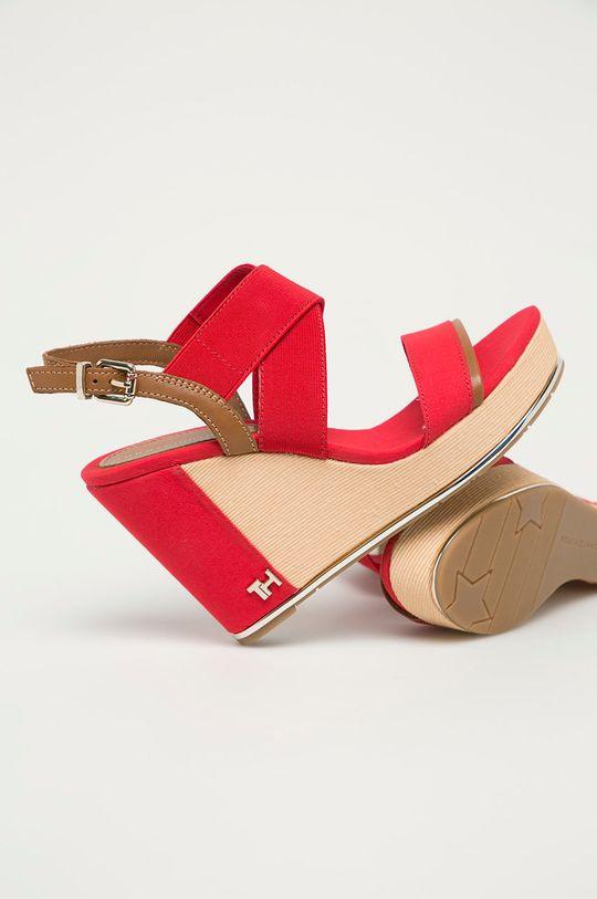 czerwony Tommy Hilfiger - Sandały