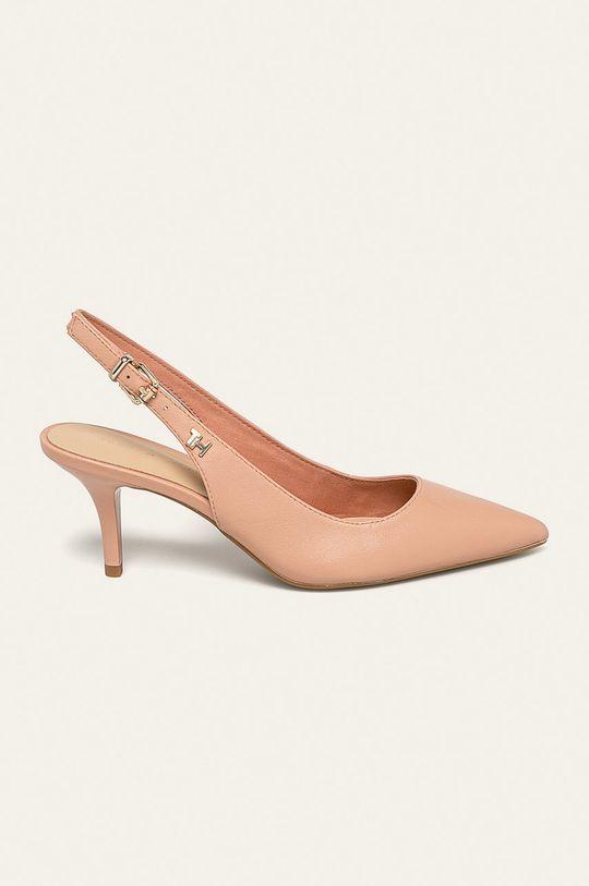 nisip Tommy Hilfiger - Pantofi de piele De femei