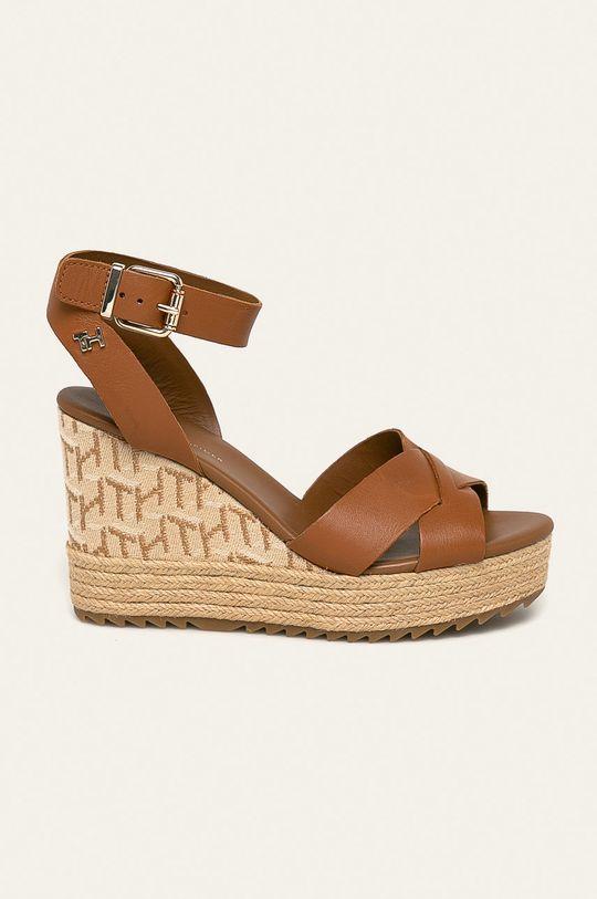 maro auriu Tommy Hilfiger - Sandale de piele De femei