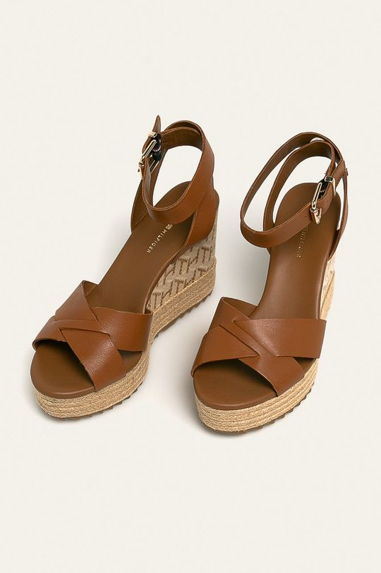 Tommy Hilfiger - Sandale de piele maro auriu