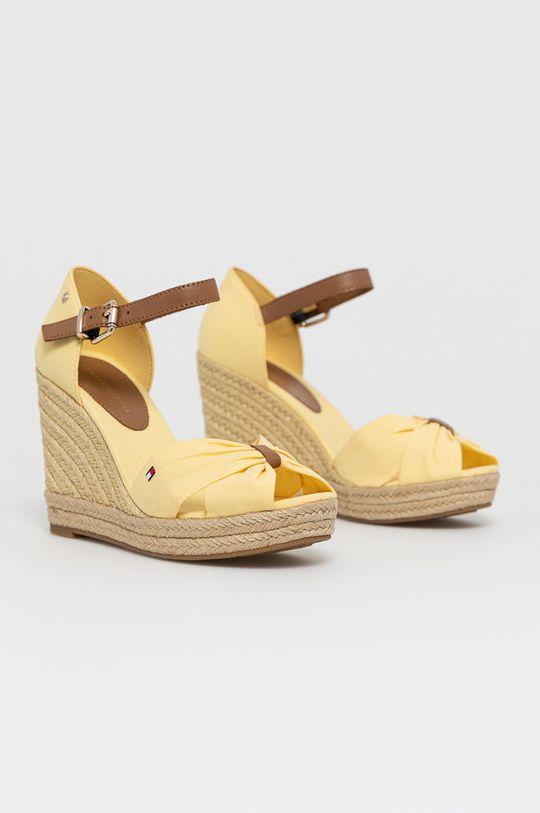 Tommy Hilfiger - Sandály jasně žlutá