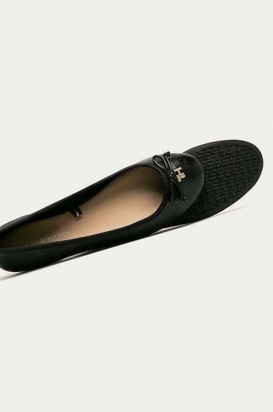 čierna Tommy Hilfiger - Kožené balerínky