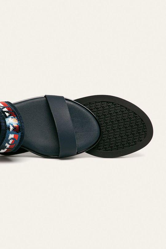 granatowy Tommy Hilfiger - Sandały skórzane