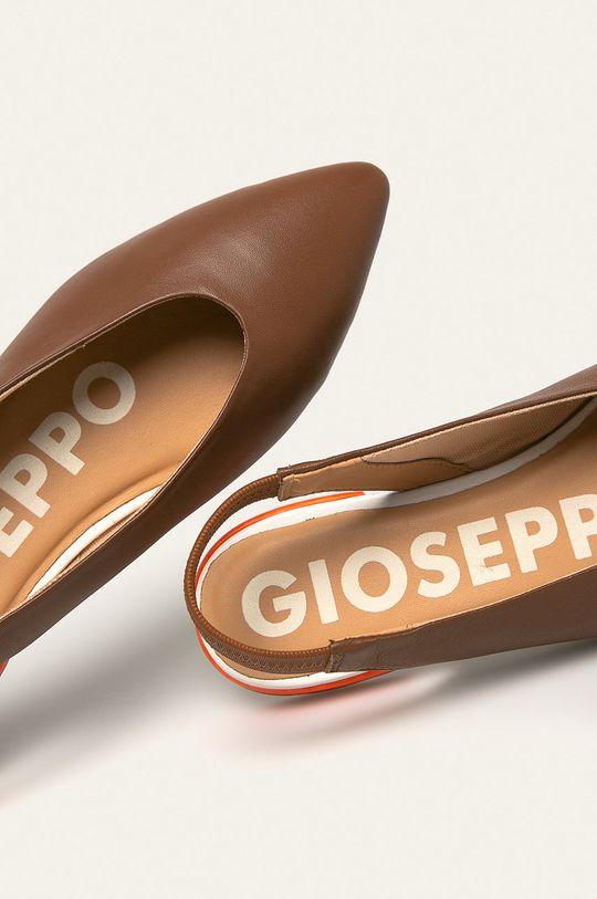 hnedá Gioseppo - Kožené balerínky