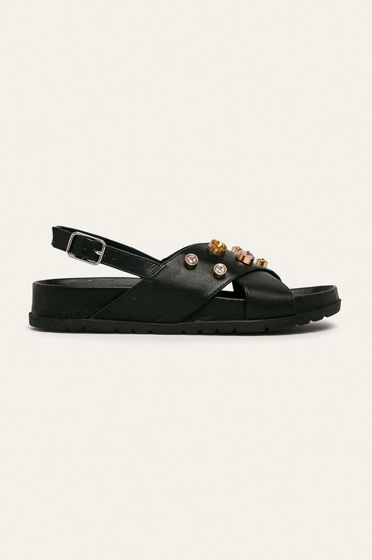 čierna Gioseppo - Kožené sandále Dámsky