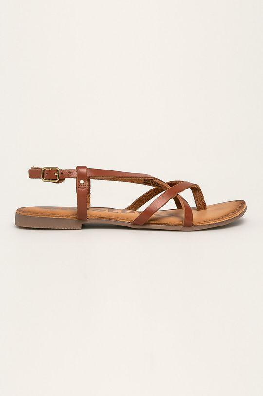 hnedá Gioseppo - Kožené sandále Dámsky
