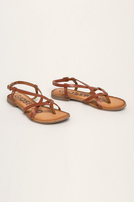 Gioseppo - Kožené sandále hnedá