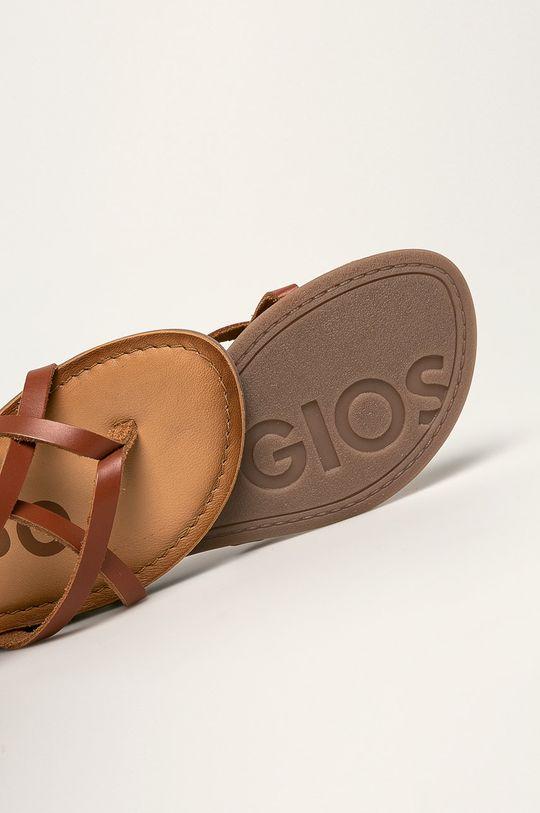 hnedá Gioseppo - Kožené sandále