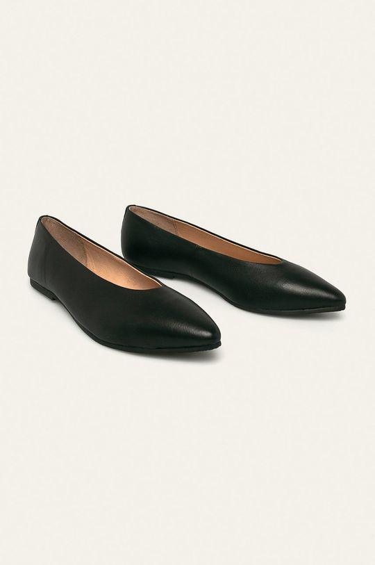 Gioseppo - Kožené balerínky čierna