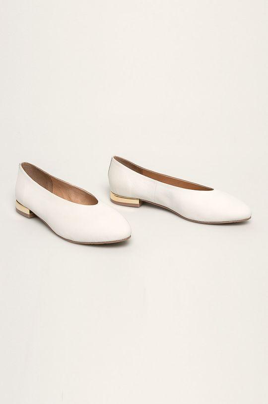 Gioseppo - Kožené balerínky biela