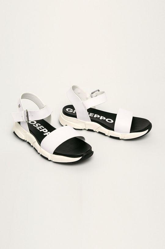 Gioseppo - Kožené sandále biela