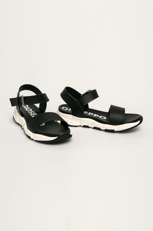 Gioseppo - Kožené sandále čierna