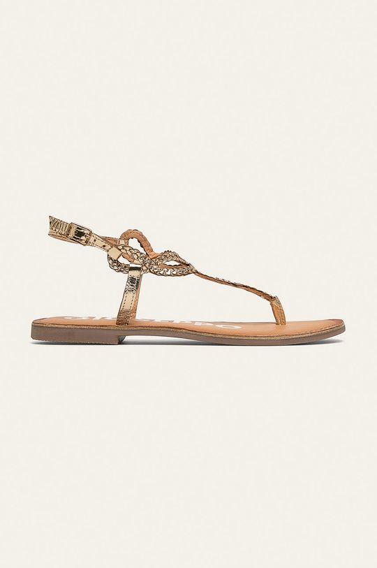 zlatá Gioseppo - Kožené sandále Dámsky